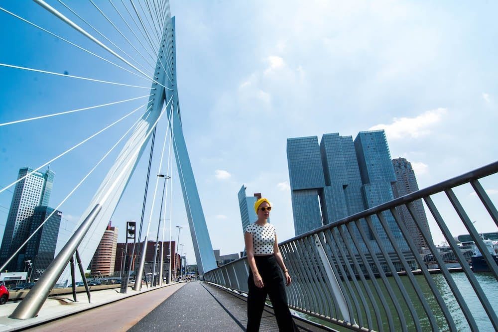 Things to do in Rotterdam, Our hometown Rotterdam, Erasmusbrug Rotterdam, Explore the architecture in Rotterdam, Nederland, the Netherlands, #rotterdam