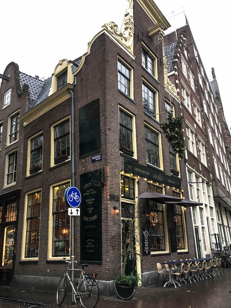 This photo was taken in the center of Amsterdam after we visited Rush Hour