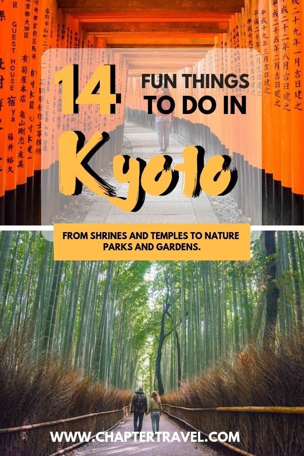 Are you visiting Kyoto? Then check out this post with 14 fun things to do in Kyoto. With both popular and non touristy things to do in Kyoto. #Kyoto #Japan