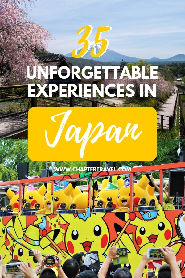 There are so many fun things to do in Japan! We've asked various travel bloggers to share their ultimate bucket list experiences in Japan. In this post you can find 35 Japan experiences that will make a memorable trip! #Japan #JapanBucketList #Wanderlust