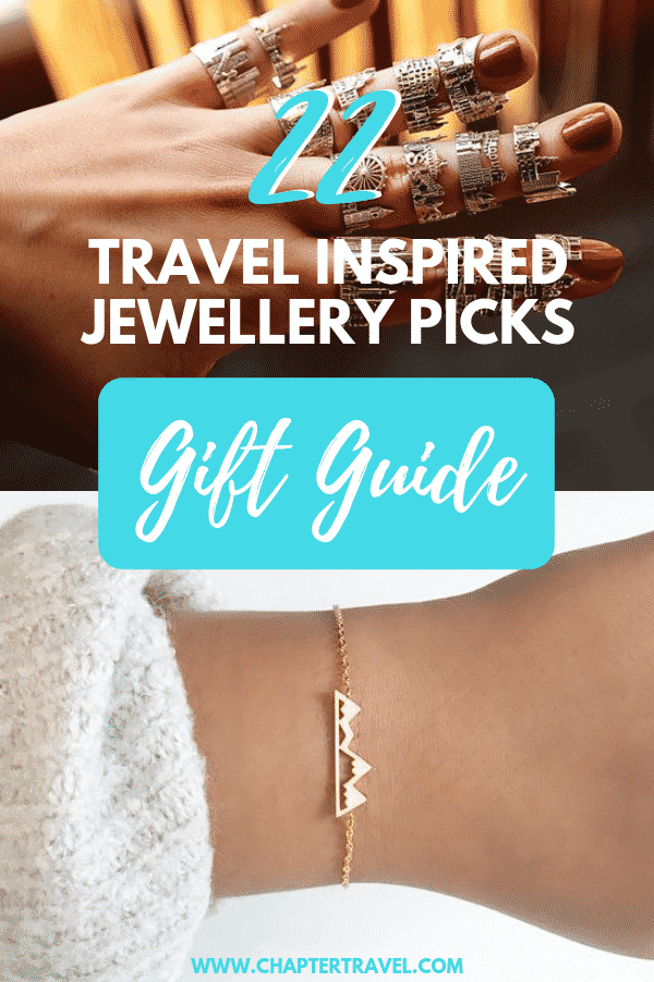 Want to give a traveller a meaningful, special gift for their birthday, graduation or anything else? Why not one of these travel inspired jewellery picks! In this gift guide you can find beautiful bracelets, rings, earrings and necklaces!