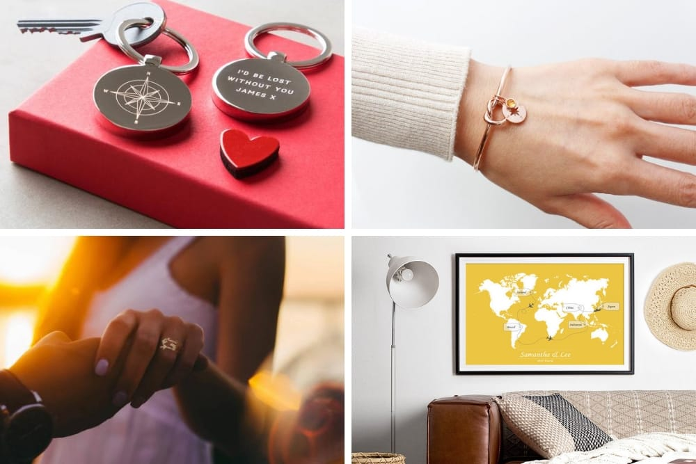 Check out these personalised Valentine's Gifts that are travel themed! From personalised jewellery to personalised notebooks and travel tags, there is a thoughtful gift idea for everyone! #Valentinesday #travelgifts #personalisedgifts