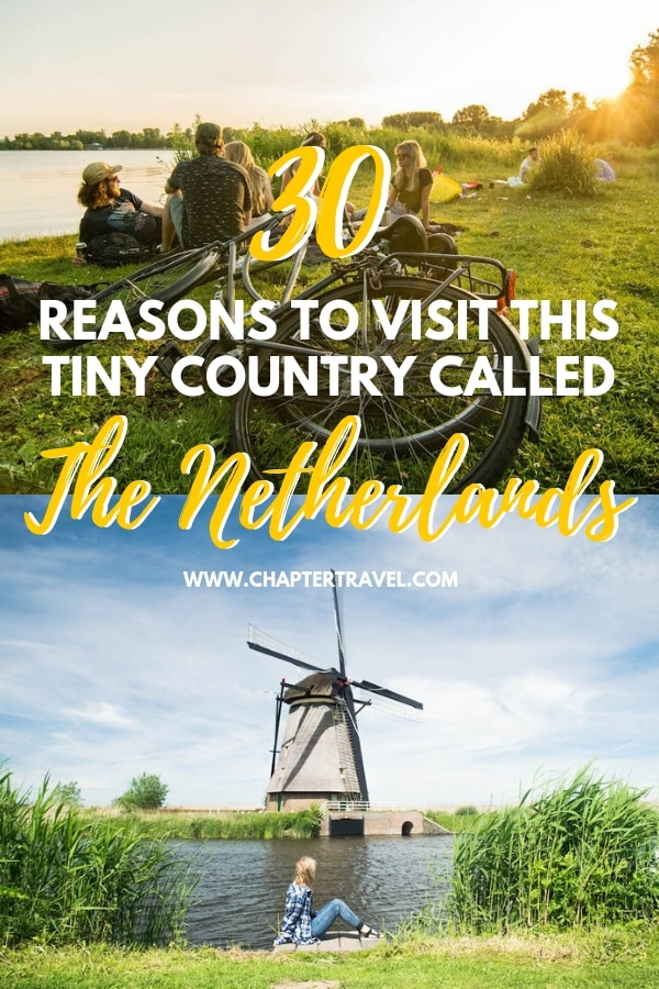 There are plenty of reasons to visit the Netherlands. It's is a pretty cool country and is definitely worth a visit! Don't only visit Amsterdam, because the Netherlands has a lot more to offer. Think about delicious Dutch snacks, amazing history, Dutch art, Dutch beer and more. #TheNetherlands #Dutch