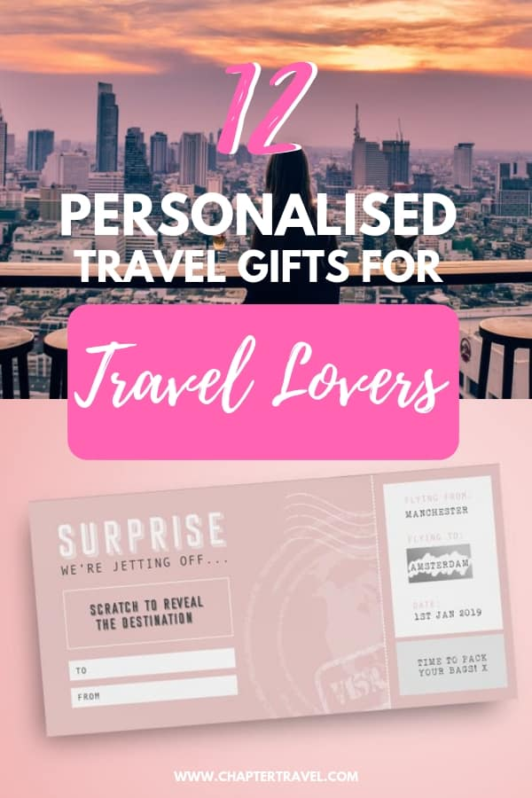 It can be quite hard to find a great gift for a passionate traveller. Especially if that person is often on the road! These 12 travel gifts are both thoughtful and useful! Check out 12 personalised travel gifts for travellers! #travelgifts #giftguide #personalisedtravelgifts