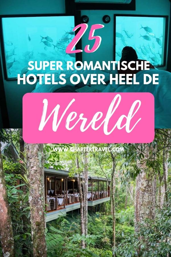 Ben je op zoek naar een romantische reis? Het begint natuurlijk bij de accommodatie! Check deze 25 super romantische hotels over heel de wereld.