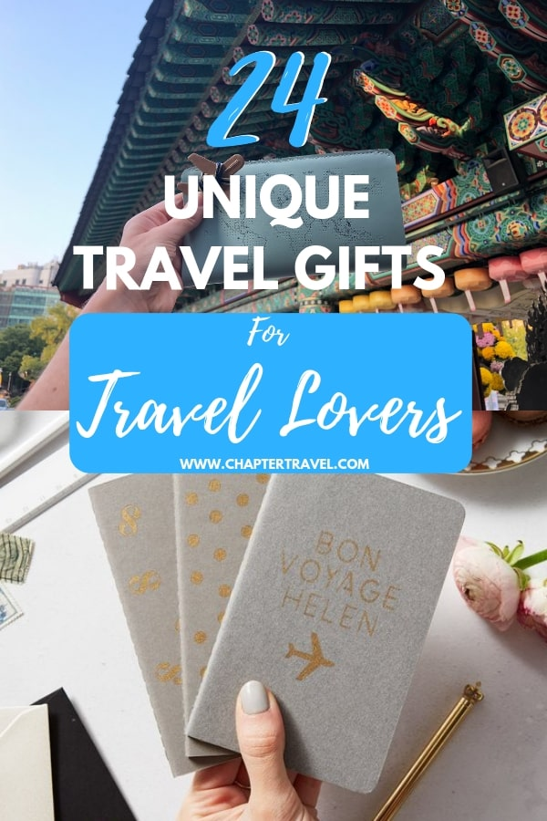 Looking for a unique travel gift? In this article you can find both unique and practical travel gifts! #TravelGifts #Guidebooks