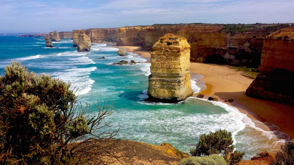 The beautiful Twelve Apostles along the Great Ocean Road. It's one of the most scenic drives in the world. Read this post for a three day Great Ocean Road driving itinerary and some excellent Great Ocean Road tours.