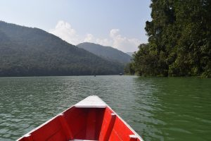 On the boat to the Peace Pagoda, things to do in Pokhara, Pokhara, Chapter Travel, Fewa Lake