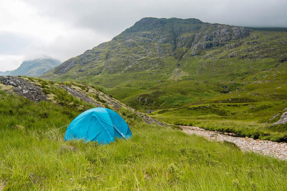 What to Pack for a Camping Trip in Scotland, Glencoe camping spot, free camping in Scotland, What to Pack for A Camping Trip in Scotland