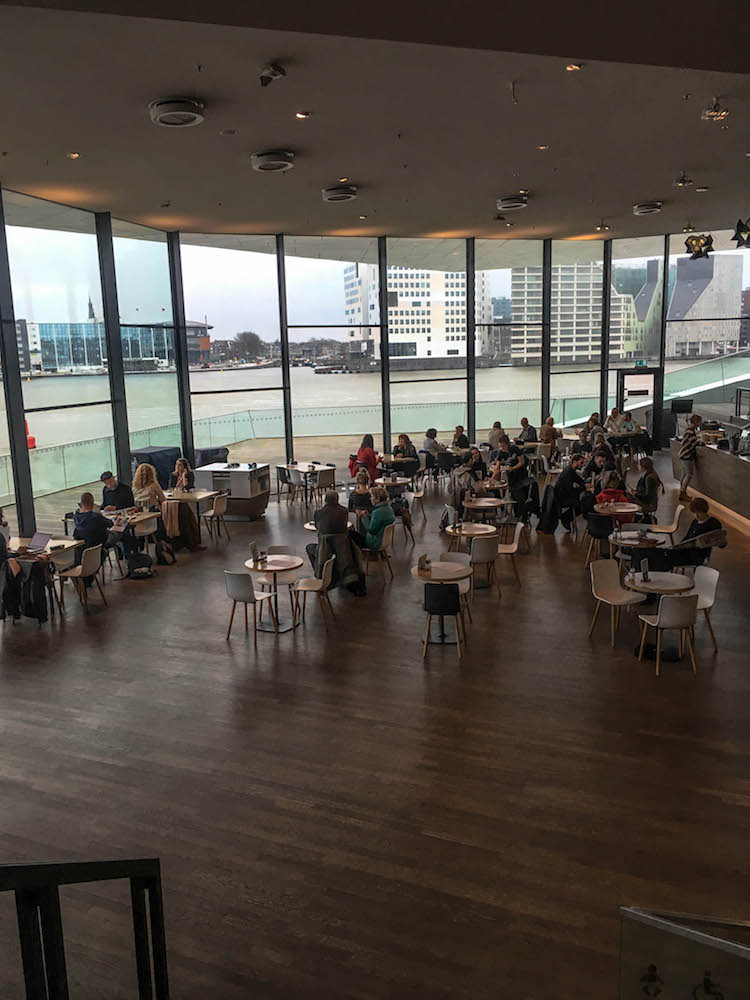 At the Eye film museum you can enjoy food and drinks from their menu and have a great view!
