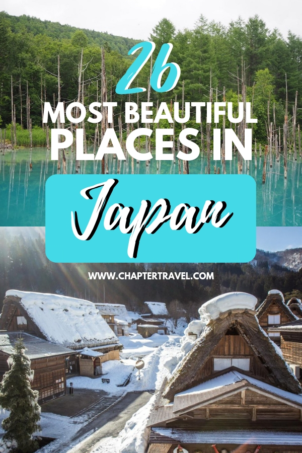Are you looking for the best destinations in Japan? In this post you can find the 26 most beautiful places in Japan, put together with the help of various travel bloggers! #Japan #DestinationsJapan