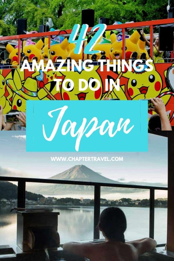 In this article I've shared both my own recommendations and those of fellow travel writers, which led to a list of Japan experiences that you can add to your bucket list! A whopping 42 amazing activities in Japan that will definitely make your trip memorable. This article also includes several recommendations for tours and hotels to stay in. Have fun! #Japan #Wanderlust #bucketlist
