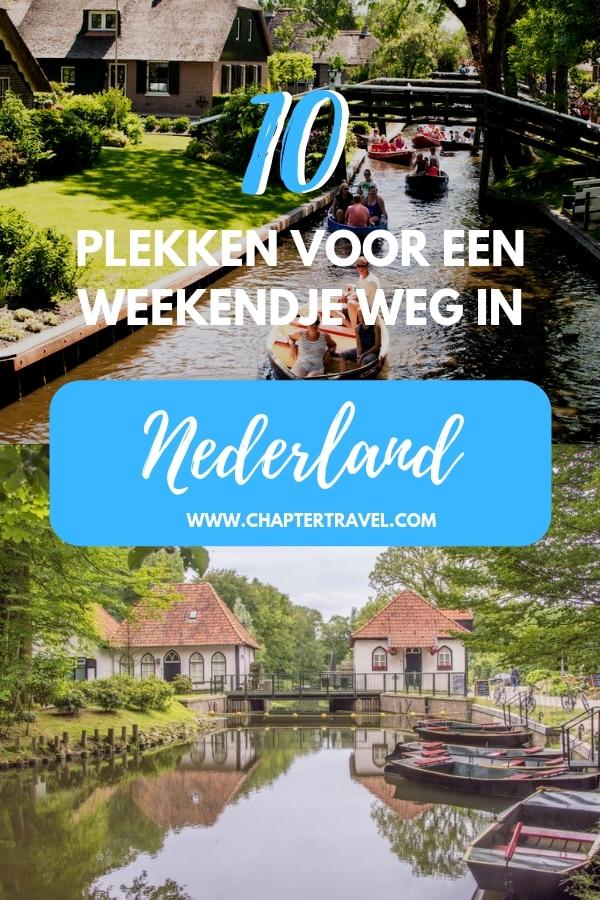 Heb je zin om er even helemaal tussen uit te gaan? Hiervoor hoef je echt niet ver te reizen, in Nederland zijn er zat mooie plekken om naartoe te gaan! In dit artikel vind je 10 mooie plekken voor een weekendje weg in Nederland. #Nederland #weekendjeweg