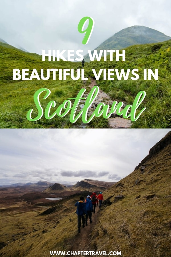 Going on an epic adventure in Scotland? In this article you can find the best hikes in Scotland; from landscape of cliffs and rocky pinnacles to white sand beaches and castle ruins. #Scotland #BesthikesinScotland #HikesScotland #Hikes