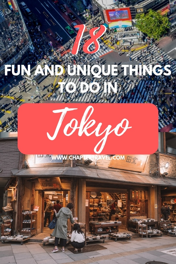 Tokyo is filled with unique and memorable experiences. There are lots of beautiful areas to visit, delicious foods to try and of course lots of fun activities! In this article you can find 18 fun and unique things to do in Tokyo, including popular and unknown things to do and places to visit. Enjoy! #Tokyo #Japan #Wanderlust