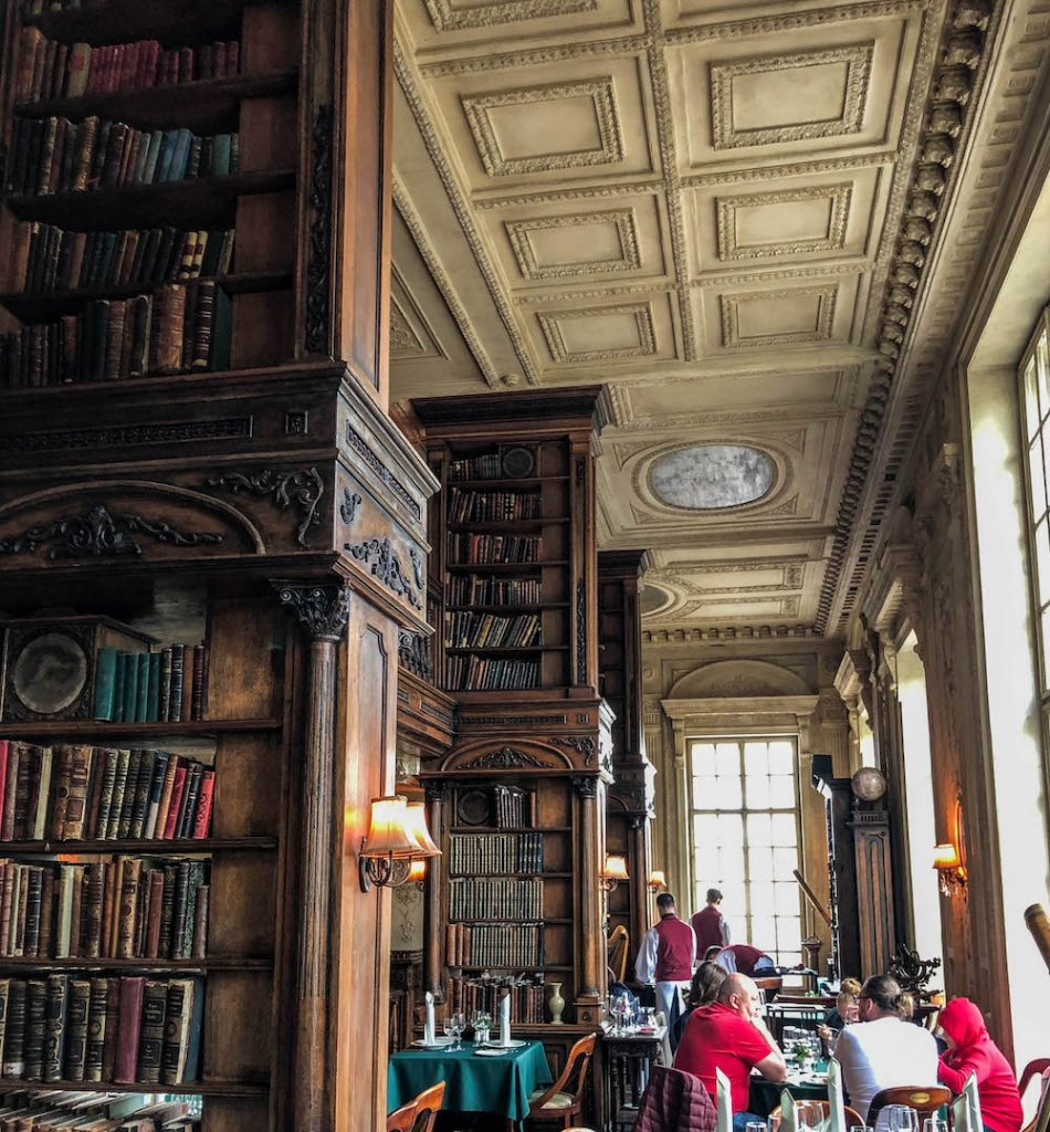 Café Pushkin in Moscow is a fantastic spot to have lunch or dinner. It feels as if you're eating right in the middle of an amazing library.